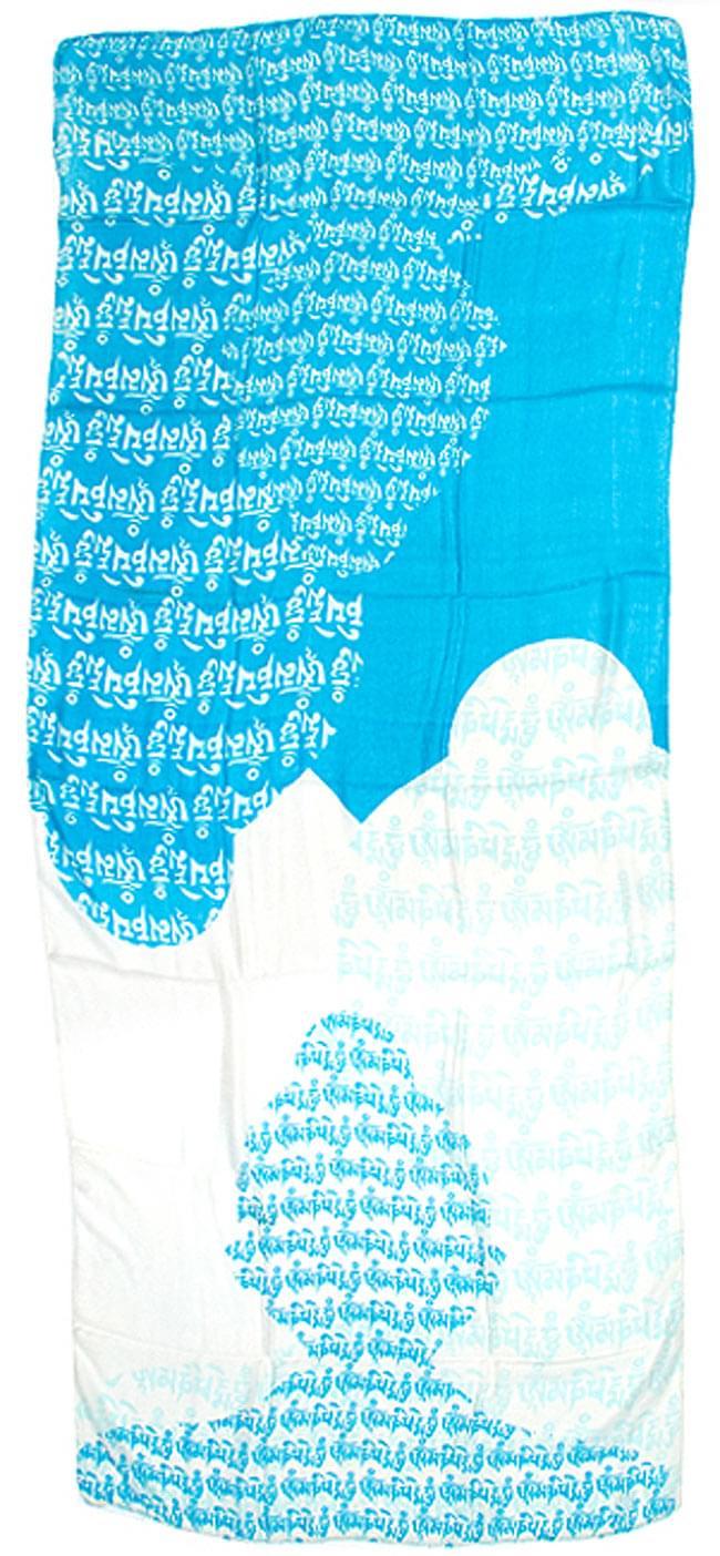 [160cm×70cm]ヒストリーブッダのファンシーストール - 水色の写真