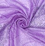ウッドブロックのコットンスカーフ - シヴァ 紫