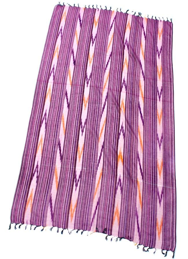 〔170cm×100cm〕ヘビーイカットルンギー - 紫系の写真2 - 全体の写真です