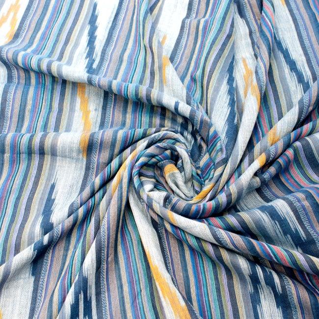 〔170cm×100cm〕ヘビーイカットルンギー - 青×黄色系の写真5 - 色彩の国、インドらしい美しい配色。差し色として素敵です。