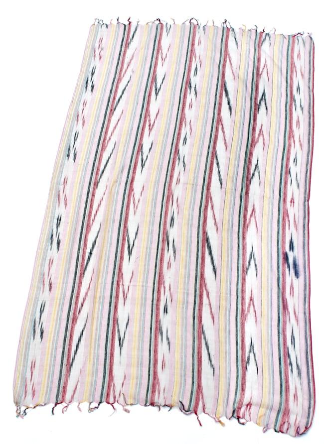 〔170cm×100cm〕ヘビーイカットルンギー - 明るめ薄ピンク系の写真2 - 全体の写真です