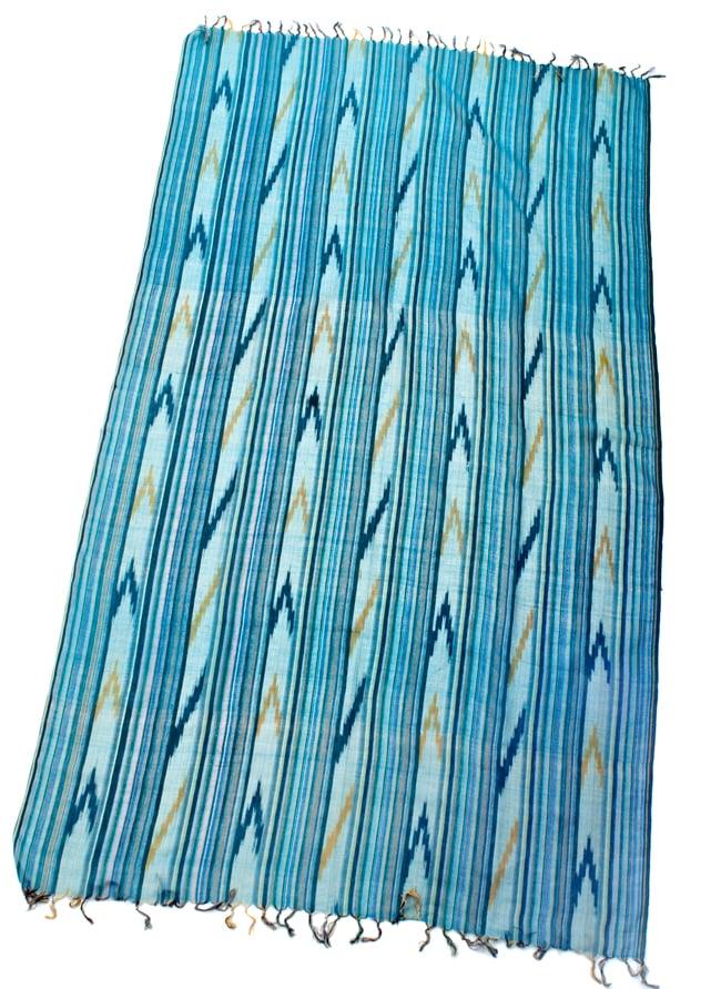 〔170cm×100cm〕ヘビーイカットルンギー - 青緑系の写真2 - 全体の写真です