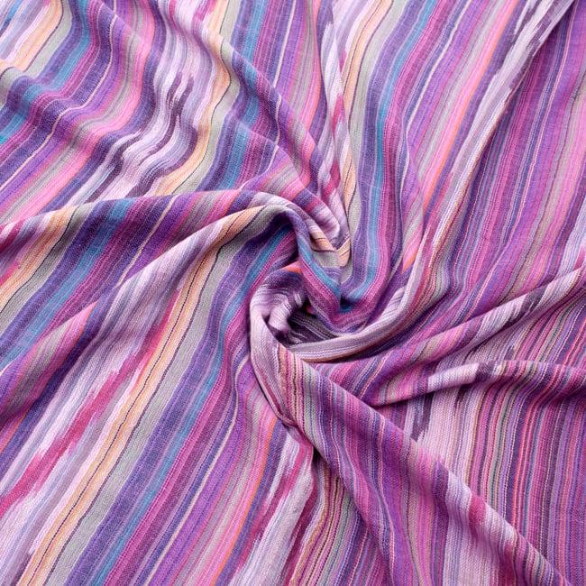 【青・紫系アソート】ヘビーイカットルンギーの写真7 - 色彩の国、インドらしい美しい配色。差し色として素敵です。