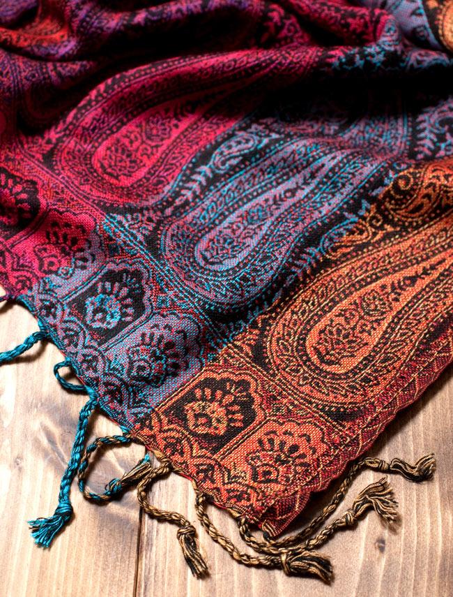 〔200cm×70cm〕インド更紗 伝統チンツ柄ストール - Mixの写真2 - 縁の拡大写真です