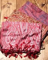 〔200cm×70cm〕インド更紗 伝統チンツ柄ストール - 赤系アソート