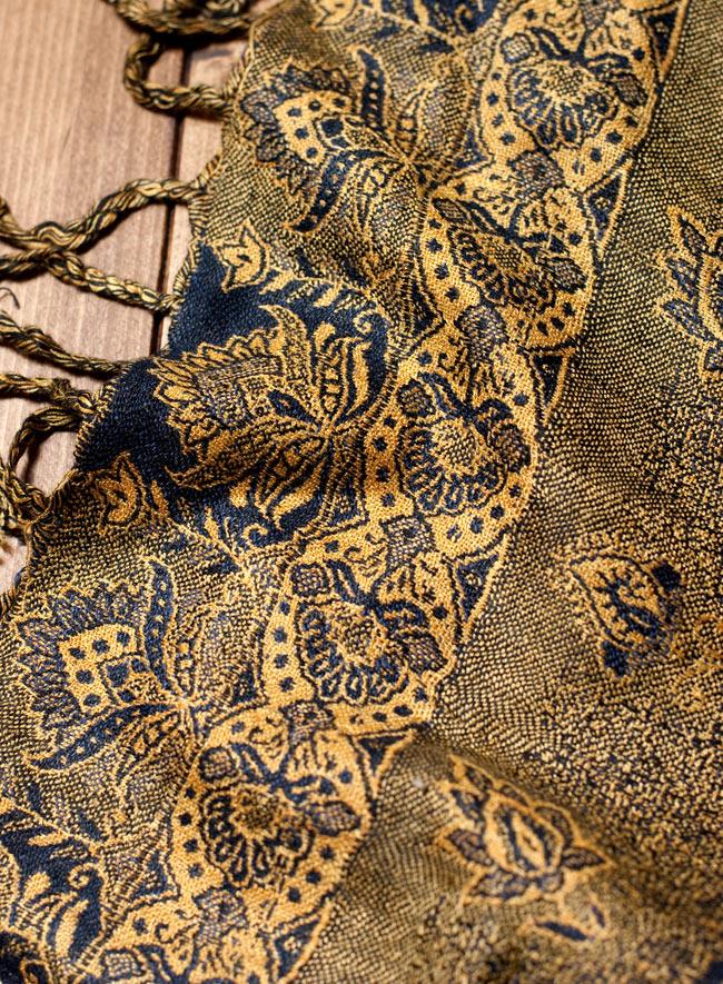 〔200cm×70cm〕インド更紗 伝統チンツ柄ストール - 黄色系アソートの写真6 - 拡大写真です
