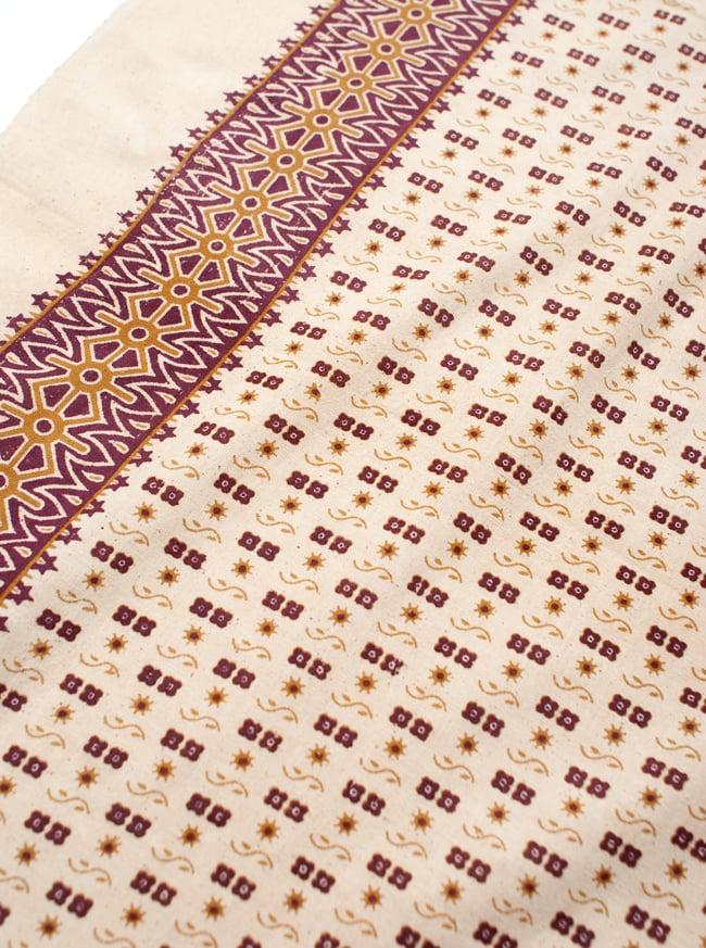 〔180cm*120cm〕インドの伝統柄 更紗模様プリント布の写真3 - 拡大写真です。