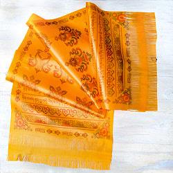ネパールの祝福用 光沢スカーフ カタ  KHATA 約140cmオレンジ