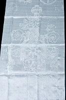 ネパールのウェルカム光沢スカーフ 約160cm (白)