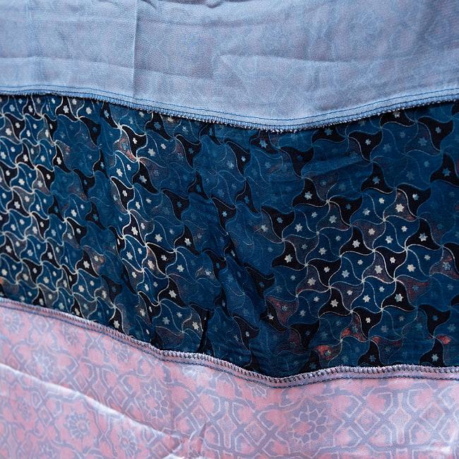 【インド品質】 1点もの インドの伝統柄 アジュラックプリント ドゥパッタ ストール【約80cm×222cm】 14 -