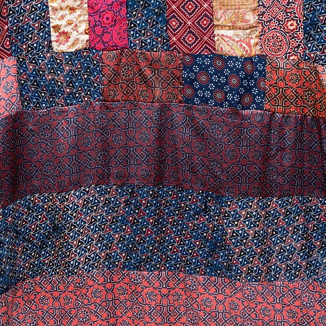 【インド品質】 1点もの インドの伝統柄 アジュラックプリント ドゥパッタ ストール【約80cm×222cm】 5 - 生地は職人が手作業で作り上げています