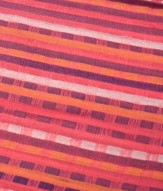 銀糸入りスカーフ - 濃ピンク系 3 - 模様を拡大してみました。