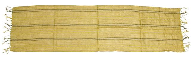 金糸入りスカーフ - 淡緑系の写真7 - 完全に広げてみました。