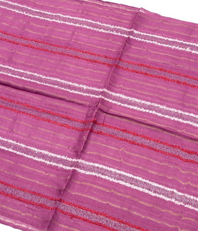 金糸入りスカーフ - 紫系 2 - 金糸がアクセントになっています。