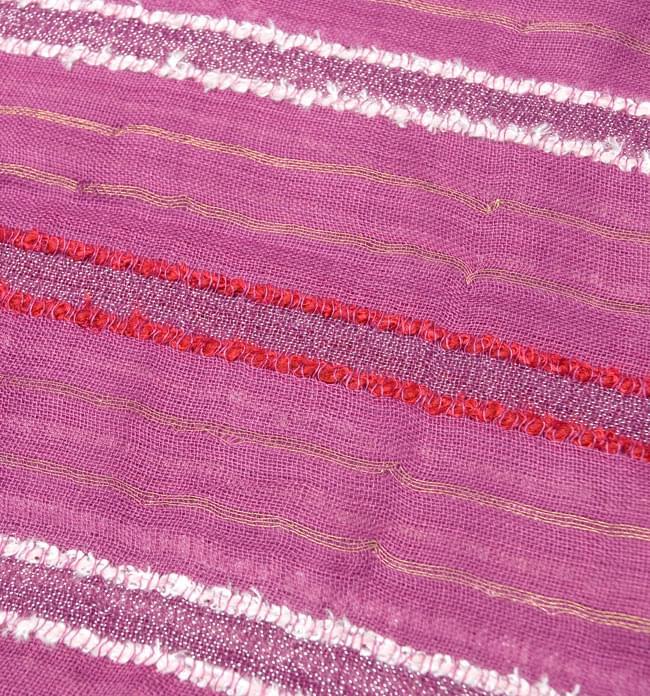 金糸入りスカーフ - 紫系 3 - 模様を拡大してみました。