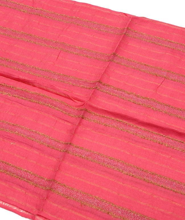 金糸入りスカーフ - 朱色系 2 - 金糸がアクセントになっています。