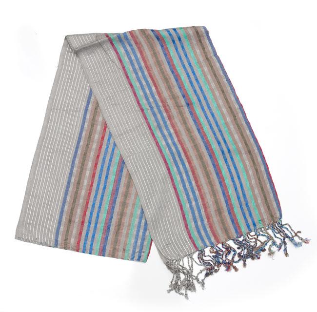 銀糸入りスカーフ - グレー系の写真