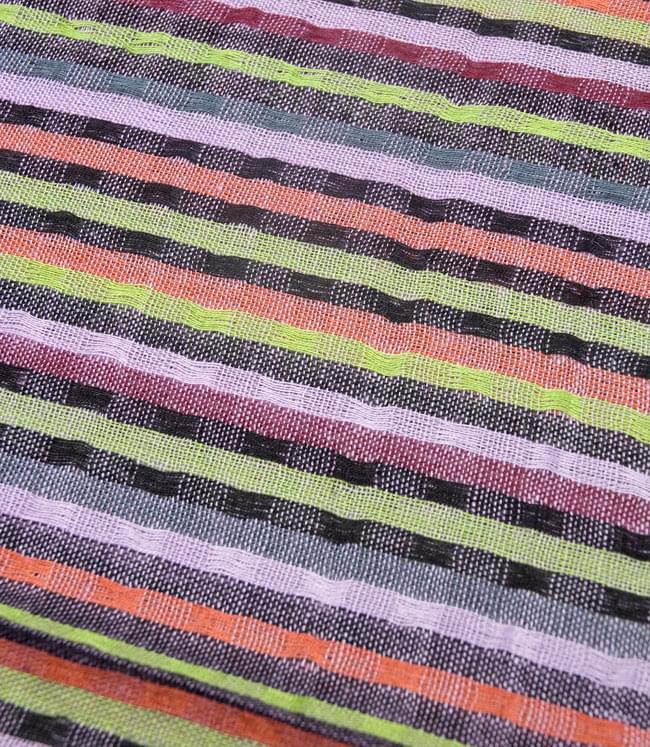 銀糸入りスカーフ - 薄紫系の写真3 - 模様を拡大してみました。
