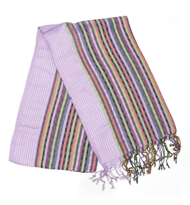 銀糸入りスカーフ - 薄紫系の写真