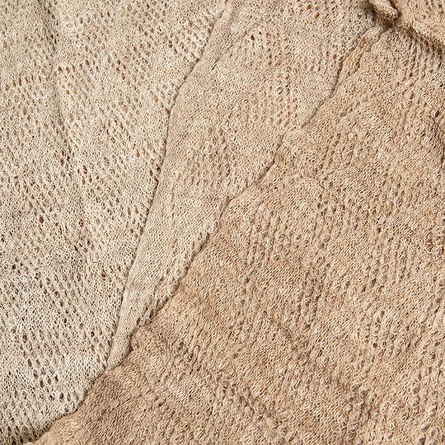 天然ネトルの手編みストール 7 - 天然素材・ハンドメイドのため、一点ごとに若干色味が異なります。