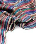 カラフルストライプスカーフ - 紫系