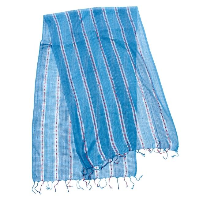 カラフルストライプスカーフ- - 青系の写真2 - 全体写真です