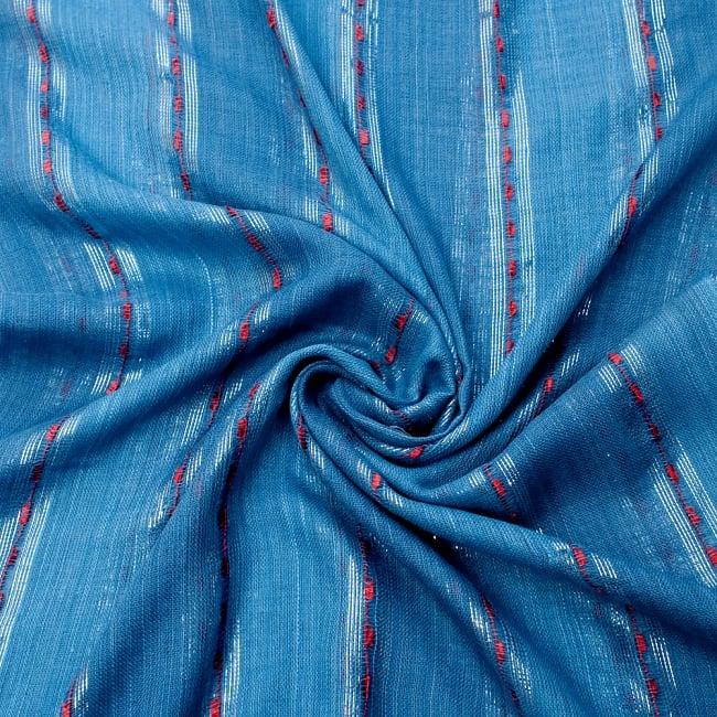 カラフルストライプスカーフ- - 青系の写真5 - ファッション用だけではなくインテリアファブリックとしても