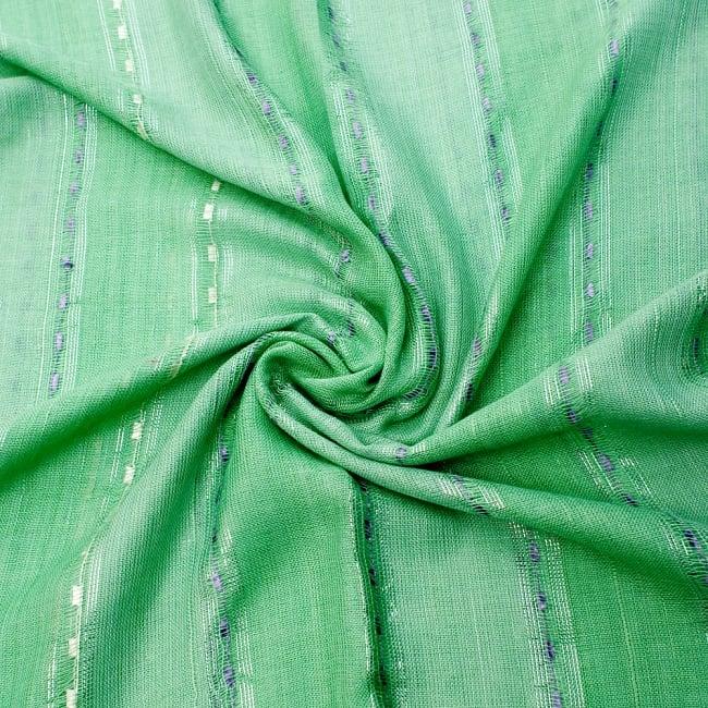 カラフルストライプスカーフ- - 緑系の写真5 - ファッション用だけではなくインテリアファブリックとしても