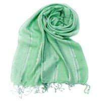 カラフルストライプスカーフ- - 緑系