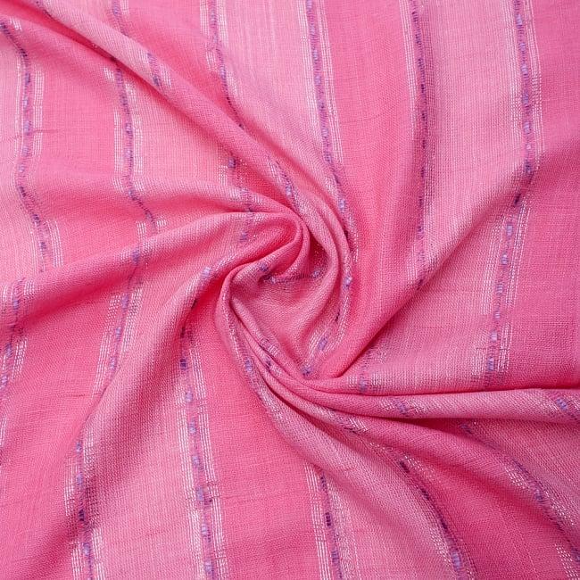 カラフルストライプスカーフ- - ピンク系の写真5 - ファッション用だけではなくインテリアファブリックとしても
