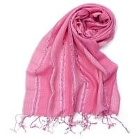 カラフルストライプスカーフ- - ピンク系