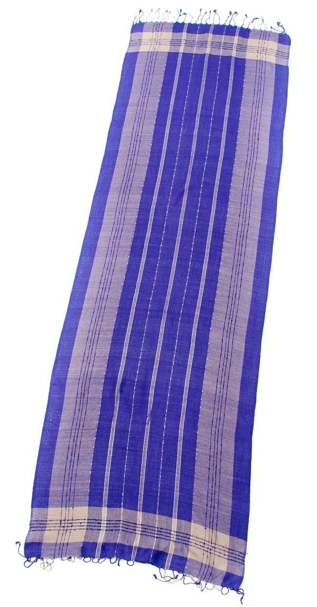 カラフルストライプスカーフ- - 紫系の写真2 - 全体写真です