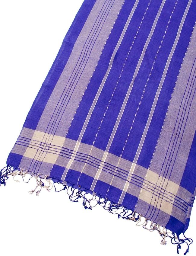 カラフルストライプスカーフ- - 紫系の写真3 - 拡大写真です