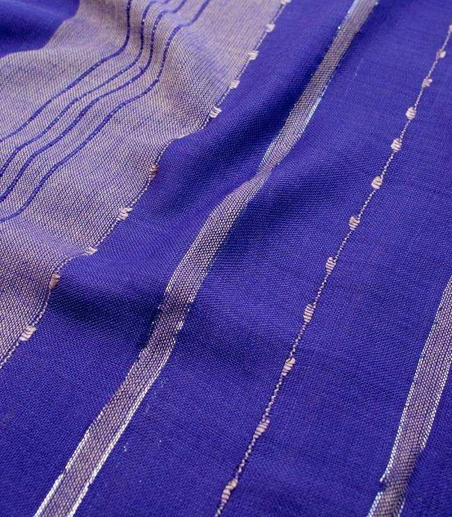 カラフルストライプスカーフ- - 紫系の写真4 - 色彩豊かなインドらしい綺麗な生地です