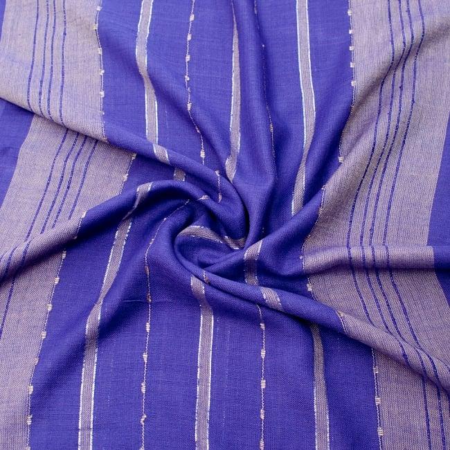 カラフルストライプスカーフ- - 紫系の写真5 - ファッション用だけではなくインテリアファブリックとしても