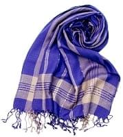 カラフルストライプスカーフ- - 紫系