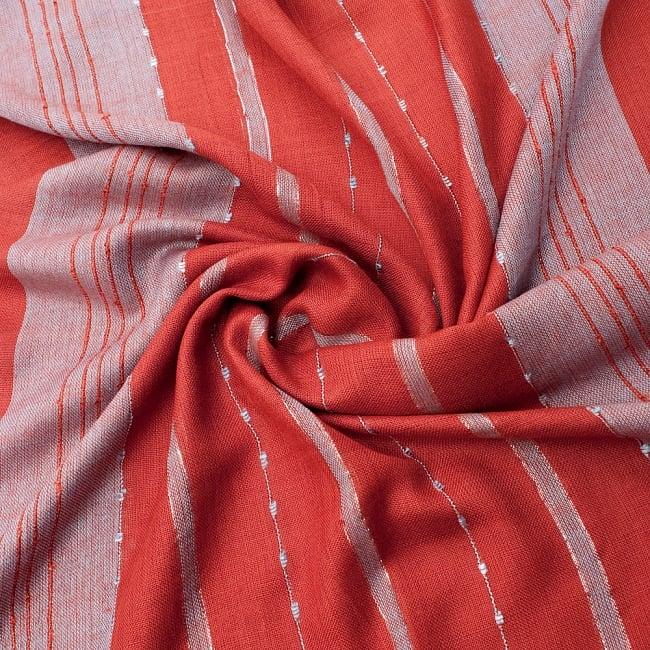 カラフルストライプスカーフ- - オレンジ×水色系の写真5 - ファッション用だけではなくインテリアファブリックとしても