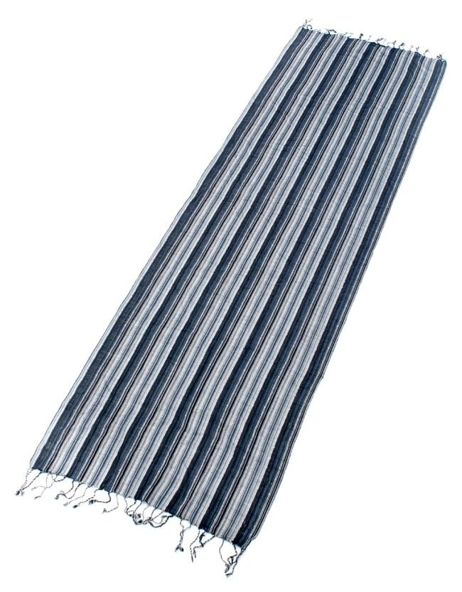 カラフルストライプスカーフ- - 黒×白×グレー系の写真2 - 全体写真です