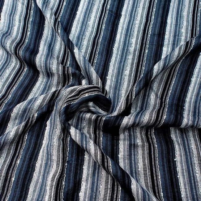 カラフルストライプスカーフ- - 黒×白×グレー系の写真5 - ファッション用だけではなくインテリアファブリックとしても