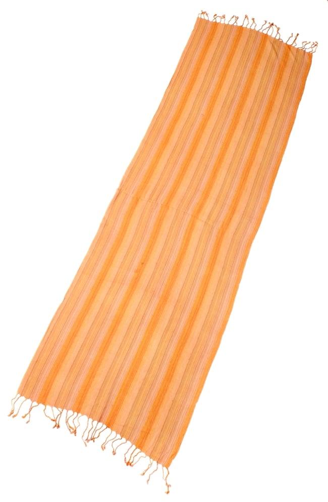 カラフルストライプスカーフ- - オレンジ系 2 - 全体写真です