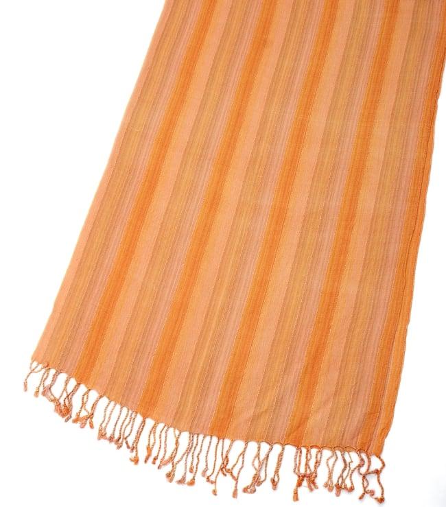 カラフルストライプスカーフ- - オレンジ系の写真3 - 拡大写真です