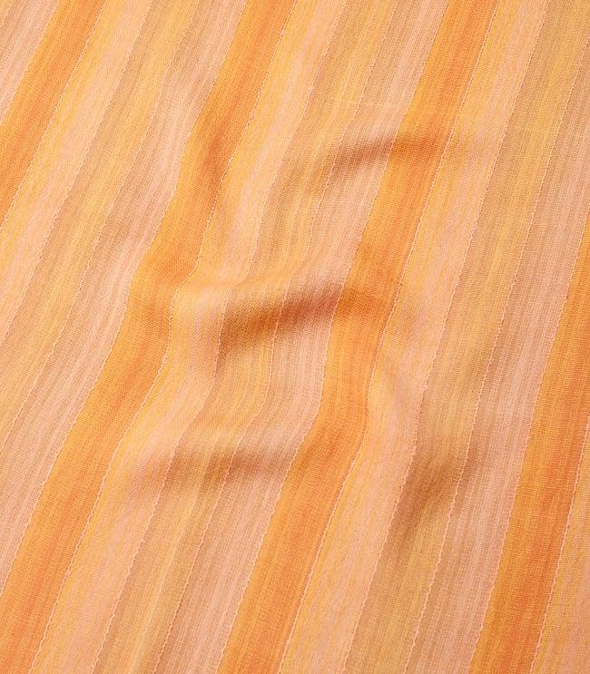 カラフルストライプスカーフ- - オレンジ系 4 - 色彩豊かなインドらしい綺麗な生地です