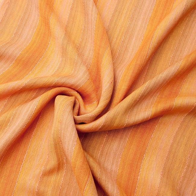 カラフルストライプスカーフ- - オレンジ系の写真5 - ファッション用だけではなくインテリアファブリックとしても