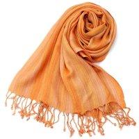 カラフルストライプスカーフ- - オレンジ系