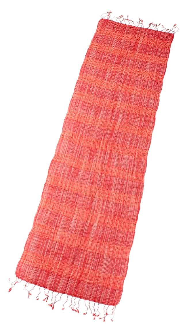 カラフルストライプスカーフ- - 赤系の写真2 - 全体写真です