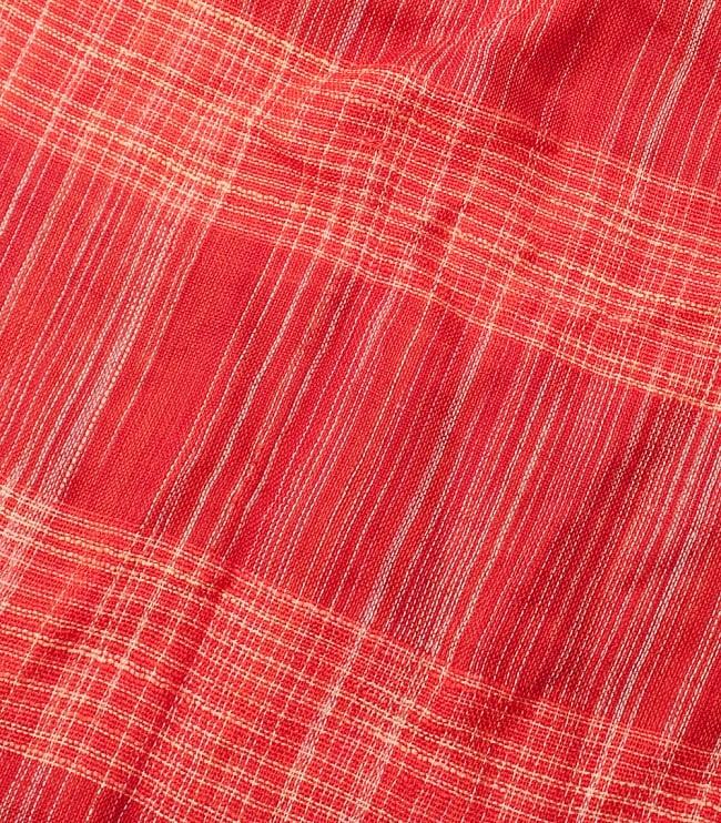 カラフルストライプスカーフ- - 赤系の写真4 - 色彩豊かなインドらしい綺麗な生地です