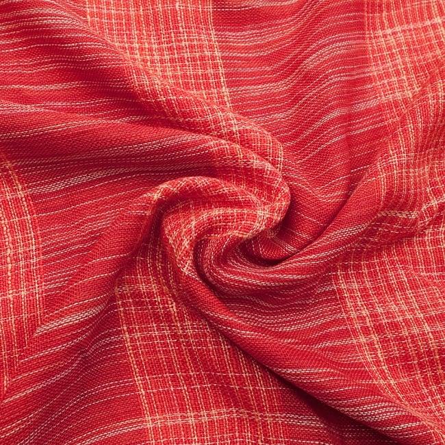 カラフルストライプスカーフ- - 赤系の写真5 - ファッション用だけではなくインテリアファブリックとしても