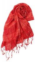 カラフルストライプスカーフ- - 赤系