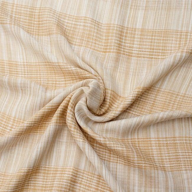 カラフルストライプスカーフ- - 白×山吹系の写真5 - ファッション用だけではなくインテリアファブリックとしても