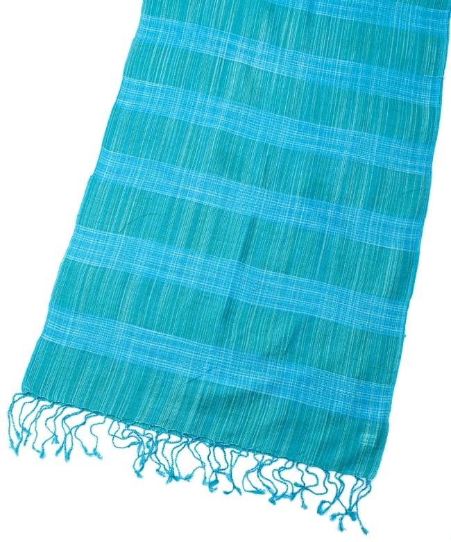 カラフルストライプスカーフ- - 青緑系 3 - 拡大写真です